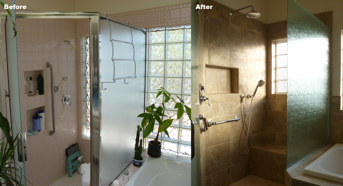 Bathroom Remodel After - Shower